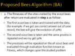 proposed bees algorithm ba4