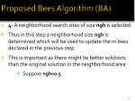 proposed bees algorithm ba7