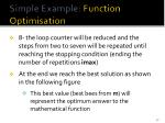 simple example function optimisation15