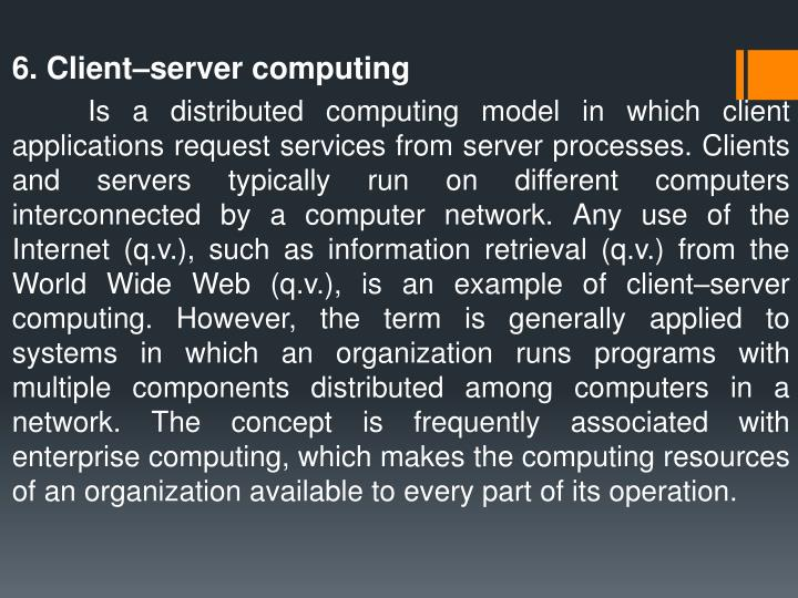 6. Client–server computing