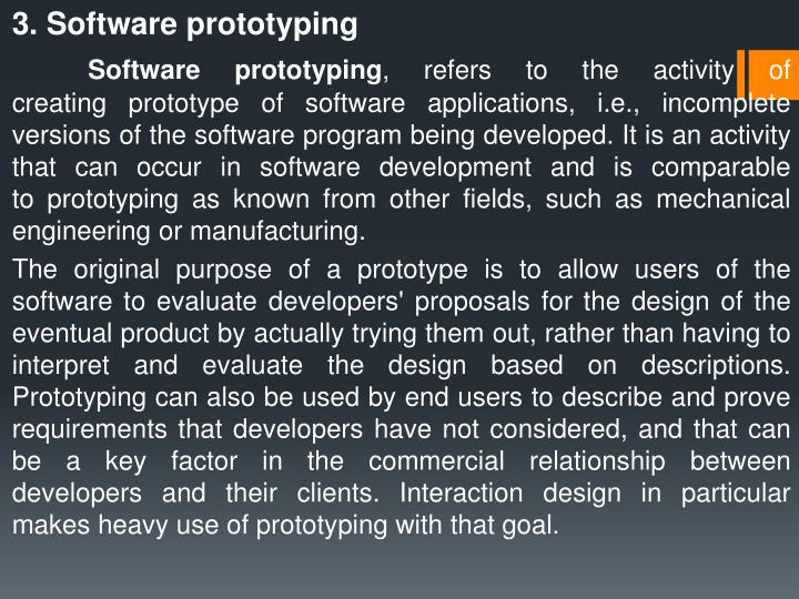 3. Software prototyping