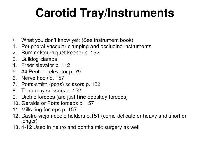 Carotid Tray/Instruments