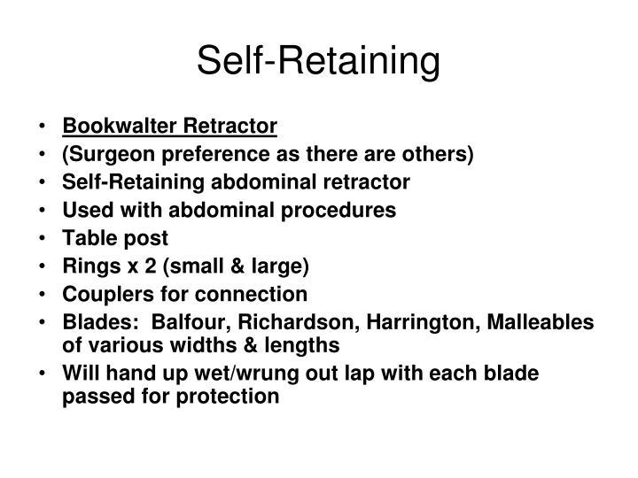 Self-Retaining
