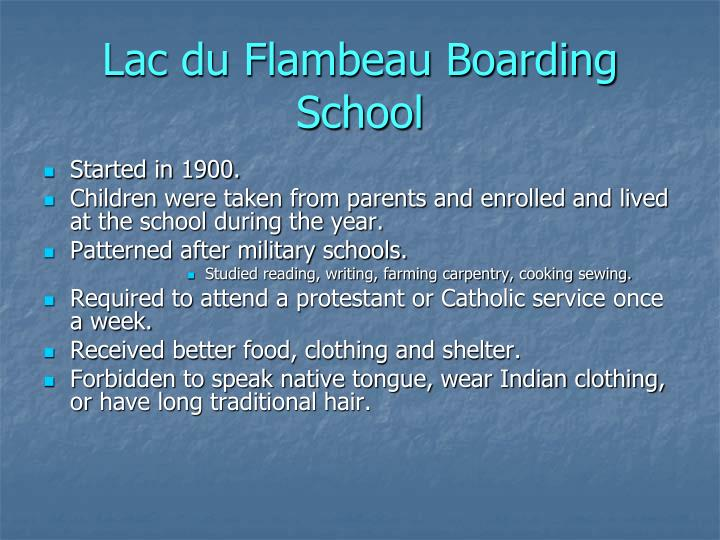 Lac du Flambeau Boarding School