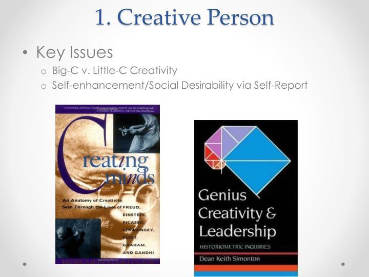 1 creative person