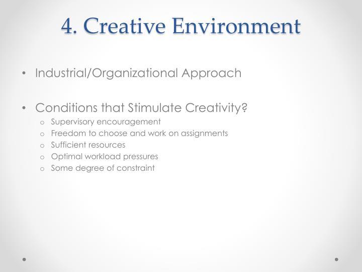 4. Creative Environment