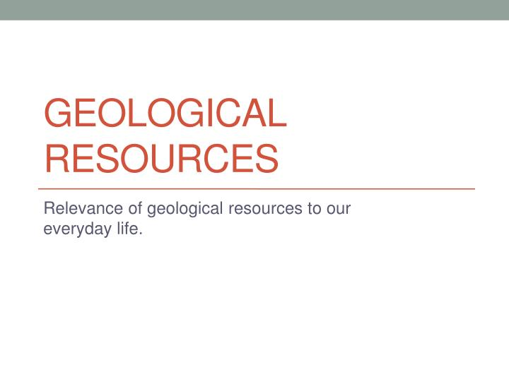 geological resources n.