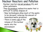 nuclear reactors and pollution