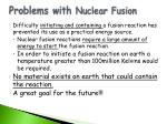 problems with nuclear fusion