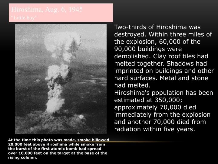 Hiroshima, Aug. 6, 1945
