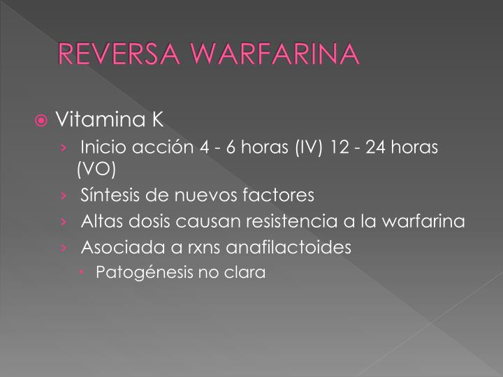 REVERSA WARFARINA