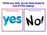 where you work do you have access to hla b 5701 testing