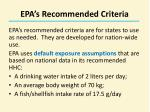 epa s recommended criteria