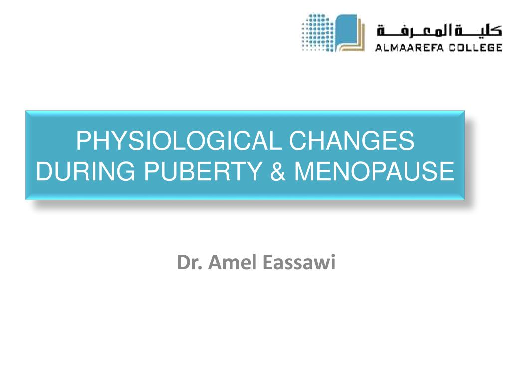 physiological changes during menopause