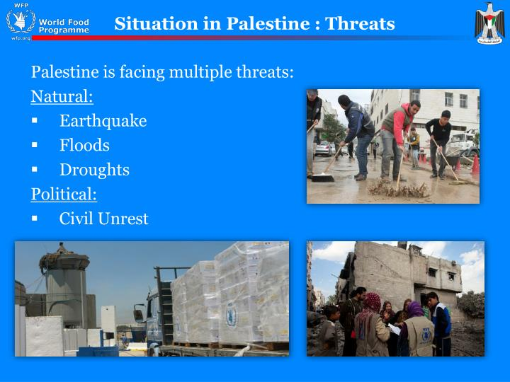 Situation in palestine threats