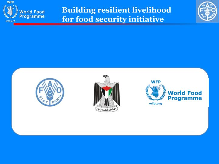 Building resilient livelihood for food security initiative