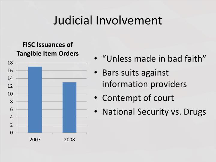Judicial Involvement