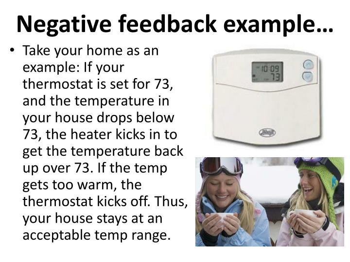 Negative feedback example…