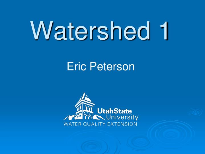 watershed 1 n.