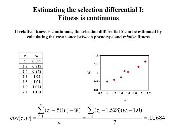 Estimating the selection differential I: