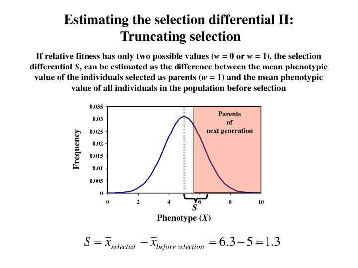 Estimating the selection differential II: