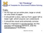 a3 thinking a template for structured problem solving1