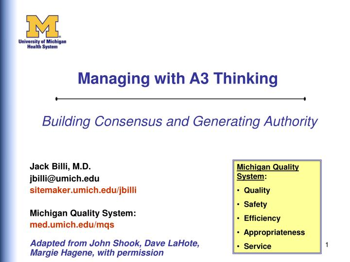 building consensus and generating authority n.