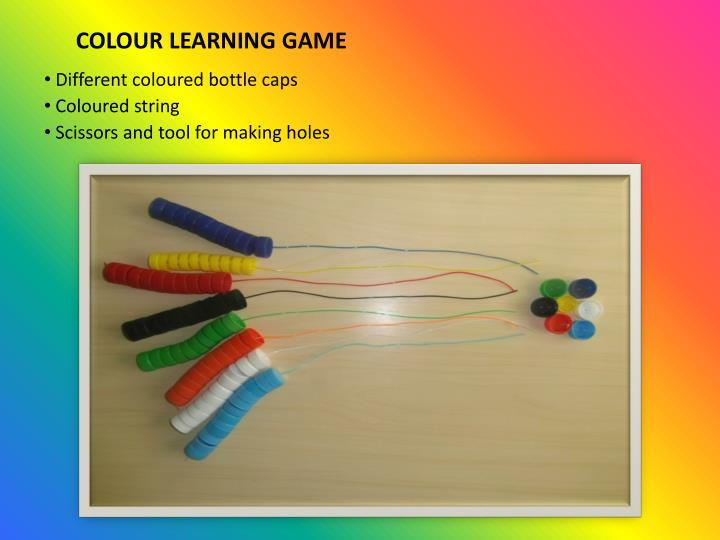 Colour learning game