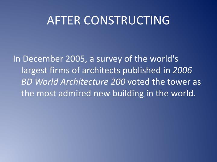 AFTER CONSTRUCTING