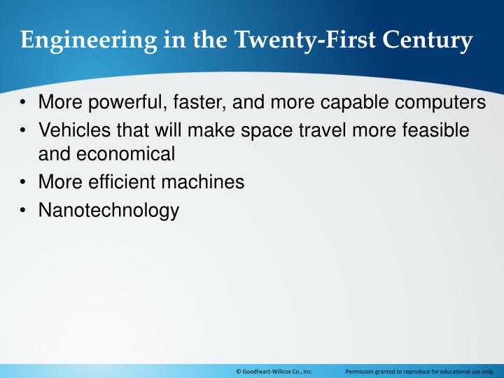 Engineering in the Twenty-First Century