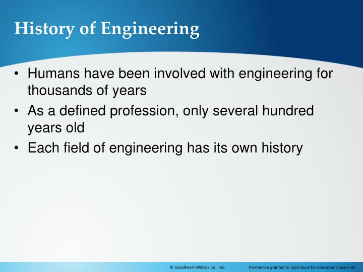 History of Engineering