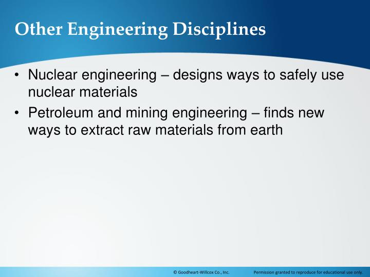 Other Engineering Disciplines