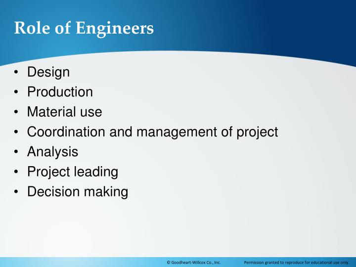 Role of Engineers