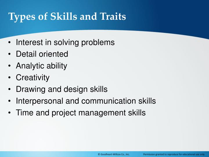 Types of Skills and Traits