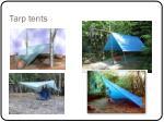 tarp tents