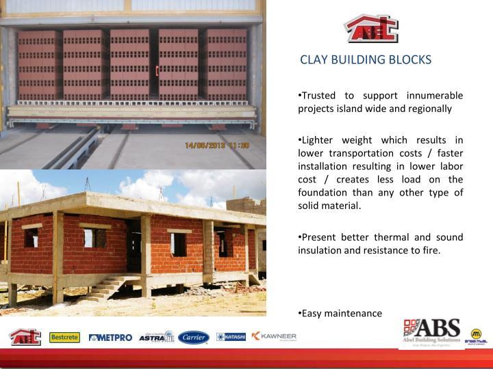 CLAY BUILDING BLOCKS
