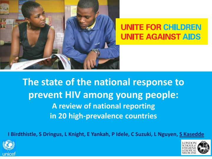 The state of the national response to prevent HIV among young people:
