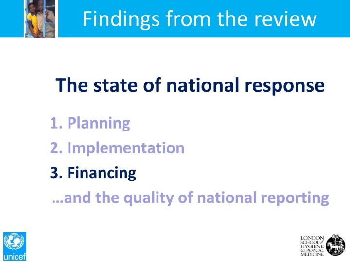 Findings from the review