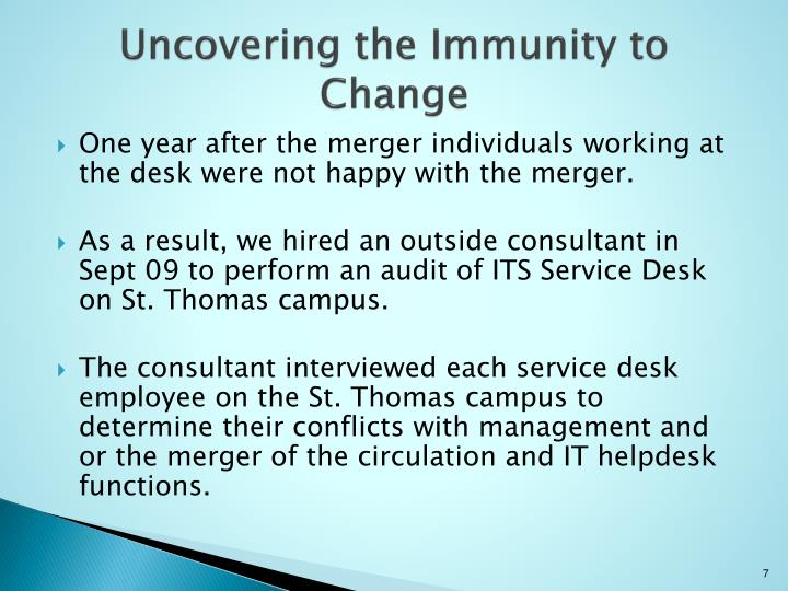 Uncovering the Immunity to Change