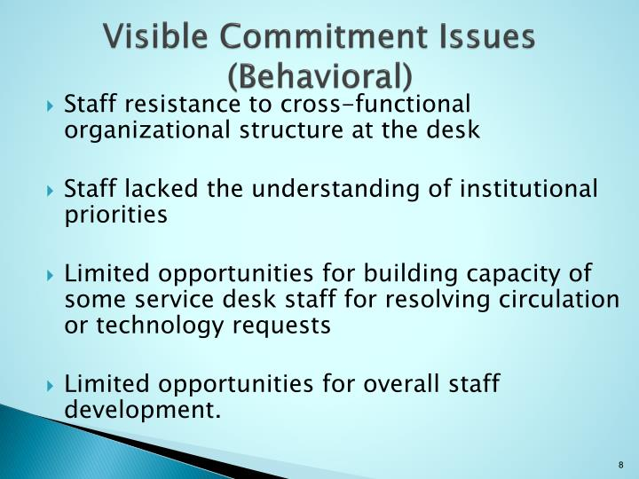 Visible Commitment Issues