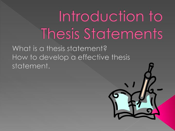 good introduction for thesis presentation Writing a thesis introduction: general to specific mentoring provides at least the basic skills required for better composition if you are a student just finding your way in the scientific world for the first time by engaging yourself in thesis writing, writing a thesis introduction is quite a challenge.