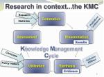 research in context the kmc