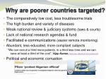 why are poorer countries targeted