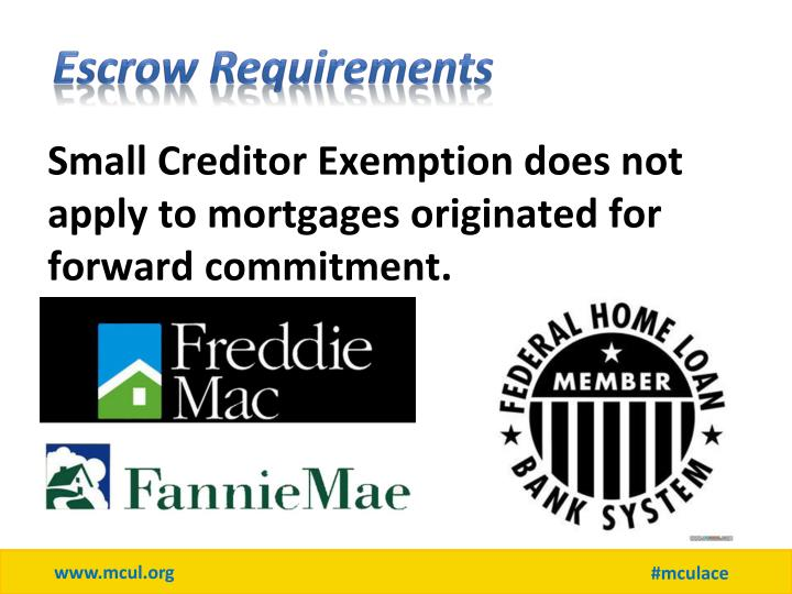 Escrow Requirements