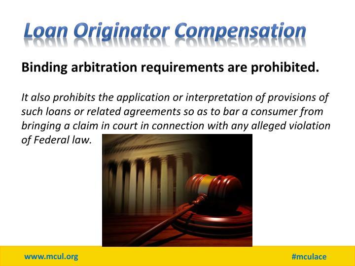 Loan Originator Compensation