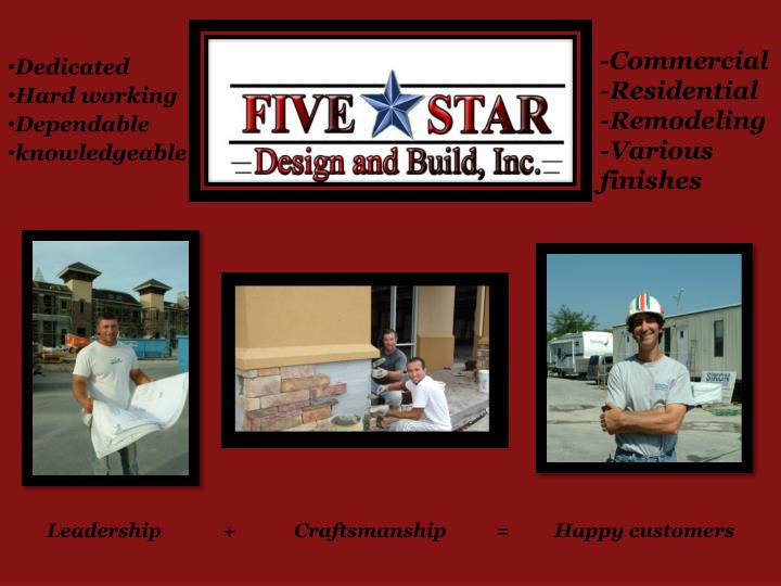 Commercial residential remodeling various finishes
