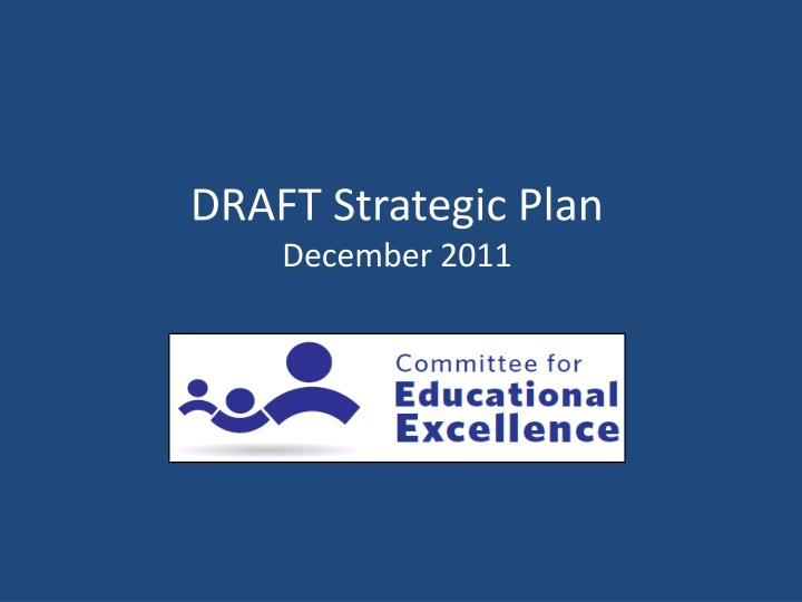 Draft strategic plan december 2011