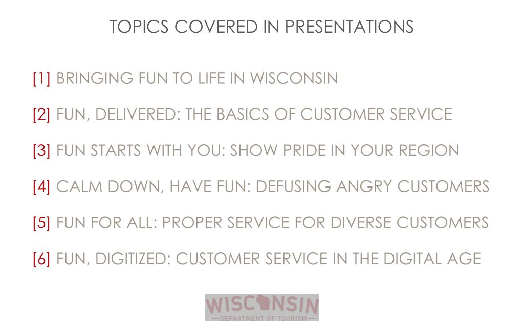 PPT - CUSTOMER SERVICE IN WISCONSIN : BRINGING FUN TO LIFE