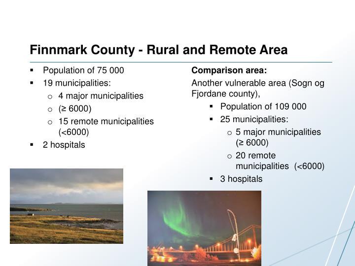 Finnmark county rural and remote area