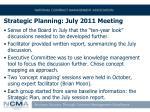 strategic planning july 2011 meeting